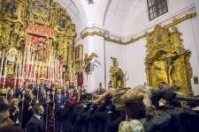 FOTOGALERÍA: Llegada a Santa María de los Titulares de la Cofradía de Expiración