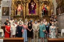 La Mantilla Gaditana realizó la ofrenda prevista el Jueves Santo a Nuestro Padre Jesús Nazareno