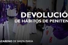 Devolución de hábitos de Penitentes