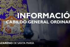 CONVOCATORIA   Cabildo General Ordinario 2021