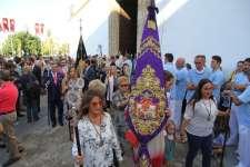 Amplia representación de la Cofradía del Nazareno en la procesión de la Patrona