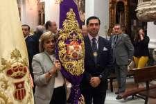 La Cofradía del Nazareno participó del Santo Rosario de vísperas de la Festividad de la Patrona
