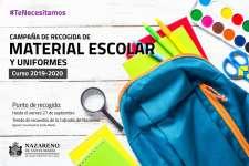 #TeNecesitamos | Campaña de recogida de material escolar y uniformes para el curso 2019-2020