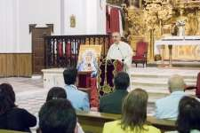 La Virgen de los Dolores protagonizó la conferencia de Fray Pascual Saturio