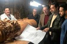 Primeros detalles del tallado del nuevo paso del Nazareno de Santa María