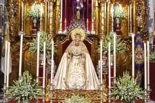 Todo preparado en Santa María para el Triduo en honor de María Santísima de los Dolores